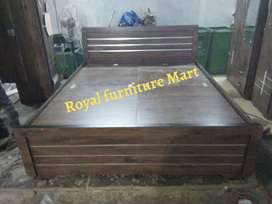Brand New double bed wood color