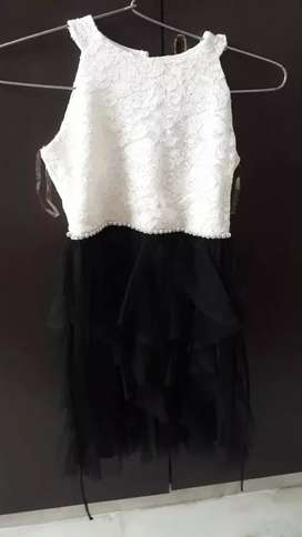 White and black fashionable frock