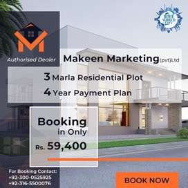 3 marla Plots on installments 7 thousand per month total cost 694000