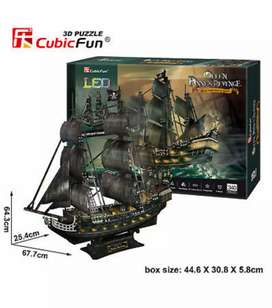 CubicFun LED 3D Puzzle L520H Queen Anne's Revenge,340pcs for 3plus