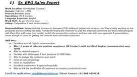 Sr. International Process Executive (BPO)