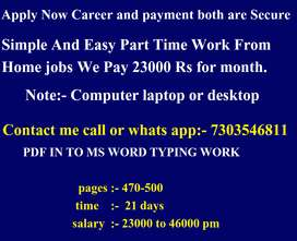 EXCELLENT OFFER JOBS, WORK FROM HOME BASED JOB
