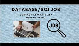 DATA BASE SQI JOB AVAILABLE HERE