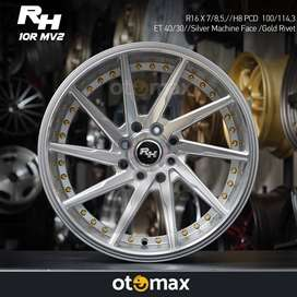 Velg Mobil RH CVT (10RMV2) Ring 16 Silver Machine Face