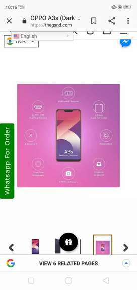 Oppo A3s brand new 3 month old bill box all accessories