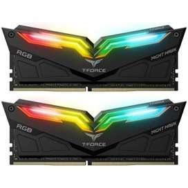 MEMORY/ RAM PC T-FORCE NIGHTHAWK DDR4 GAMING 16GB 3200mhz