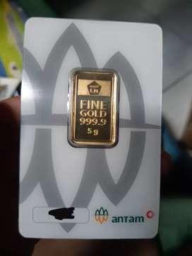 Emas antam 5 gram murni asli (certieye) cetakan press