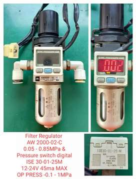 FILTER REGULATOR WITH PRESSURE SWITCH DIGITAL