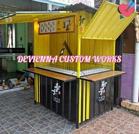 Booth Container coffee shop booth jualan booth Thai tea booth dimsum