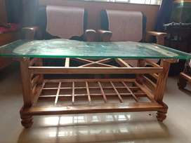 T. Table with glass