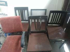5  wooden Chairs