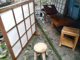 Dipan Terapi/Masage/Pijat/Taman/Kolam renang motif Jepang Hrga 1jt