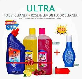 floor and toilet cleaner with free gift