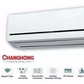 Ac Changhong 1/2pk lowwatt/5th garansi sperpart + pasang