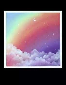 Beautiful Rainbow painting