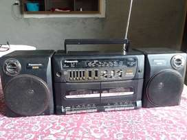National Panasonic XBS Radio Deck