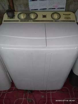 Dijual mesin cuci panasonic 6kilo nurmal siap pakai