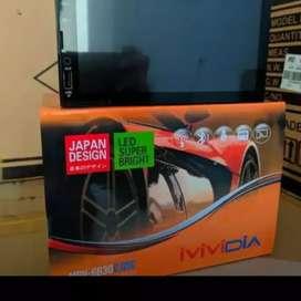 Tv mp 4 semi android full glass VIVIDIA ( Megah top )