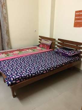 Two 6x3 wooden beds with mattress