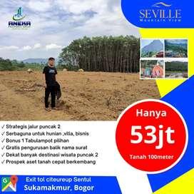 Tanah di Bogor Seville Mountain View Kavling Villa Sukamakmur