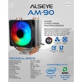 CPU COOLER RGB Alseye AM90 4 pipe