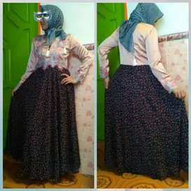 Dress muslim ceruty bordir