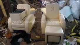 kursi refleksi krem atau sofa pijat krem