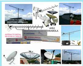 agen toko ahli install pasang parabola dan antena TV digital