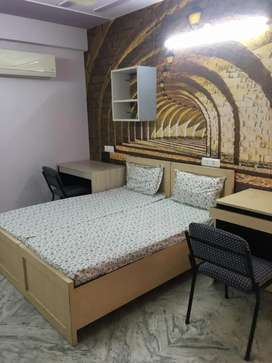 Luxuary furnished room and well facility room available...