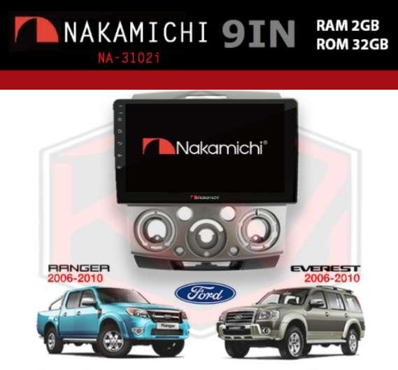 """head unit NAKAMICHI NA-3102i Android 9"""" 2/32 RANGER & EVEREST"""