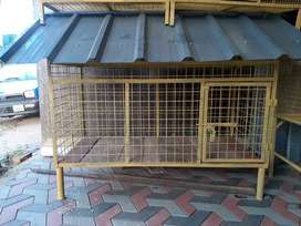 Dog cages.