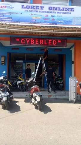 Running teks display murah di Bandung