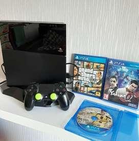 PS4 CUH1106A 500GB NO MINUS + 3 Disc ex Garansi Resmi
