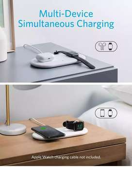 Anker PowerWave+ Pad  Wireless Charging Station, 2 in 1