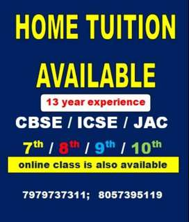 HOME TUITION AVAILABLE FOR CLASS 8/9/10  MATH & SCIENCE IN NOMINAL FEE