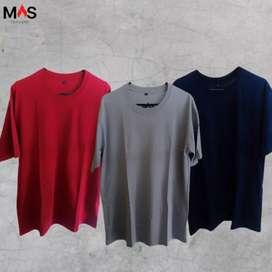 Kaos Tshirt Polos Oblong Unisex Bahan Catton Combed 30s Premium Murah