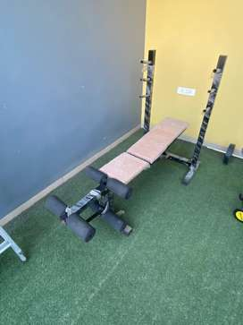Gym bench for chest