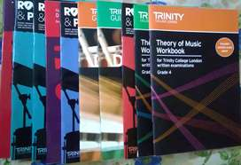 Trinity music books for classical/rock & pop western drums.