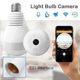 1.3 MP WIFI BULB Camera with 360 Degree Wireless IP Camera