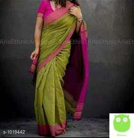 Rheyali Attractive  Khadi Cotton Sarees