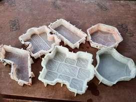 Plastic mold of paving block