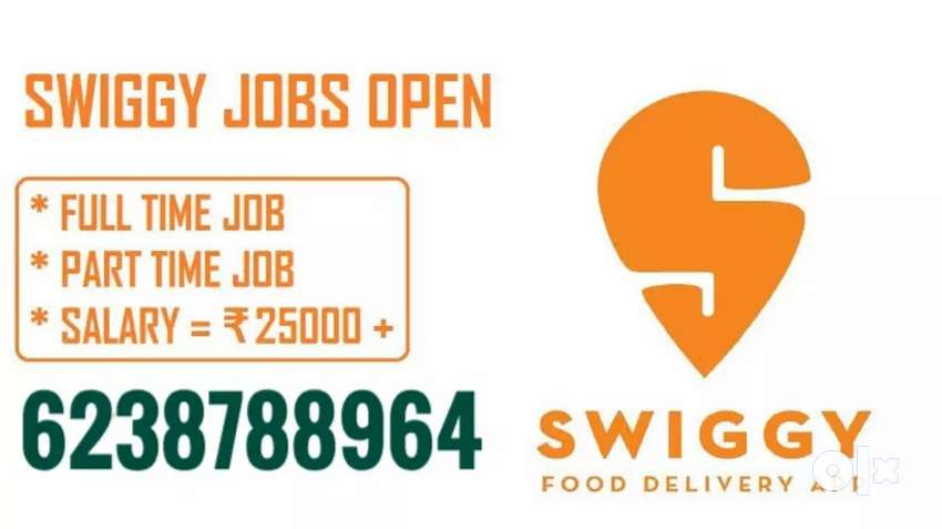 Urgently Required delivery boys on Swiggy   delivery job 0