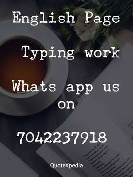 simple typing work available for home based job