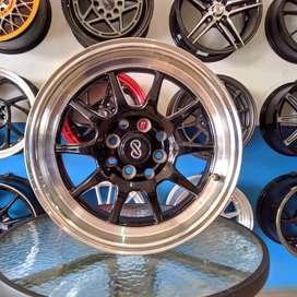 velg  Enkei C70 15x7 H8 100 114.3 +20 untuk mobil BRIO XENIA