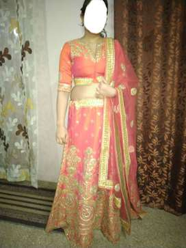 3 month old , one time wearable brand new orange lehenga