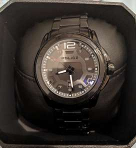 POLICE VICTORY MEN'S BLACK ANALOG WATCH
