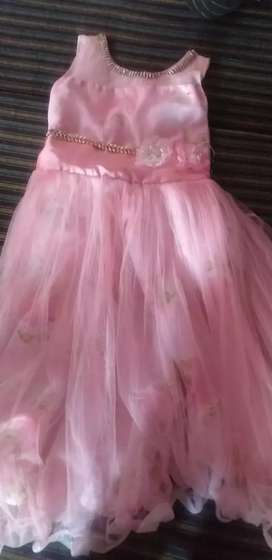 Pink girls gown 10 -12 years partywear best quality