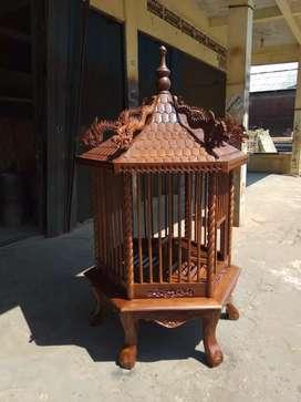 Sangkar burung kandang ayam hias jati Maulana