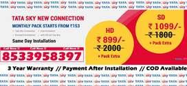 सबसे सस्ता !Rs.888 Tata Sky HD Box - Airtel DTH Tatasky D2H Dish