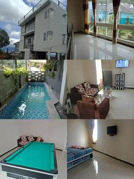 Villa kolam 9 kamar view cakep